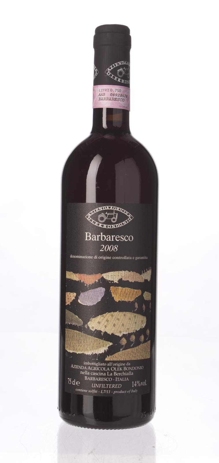 Olek Bondonio Barbaresco 2008,  () from The BPW - Merchants of rare and fine wines.
