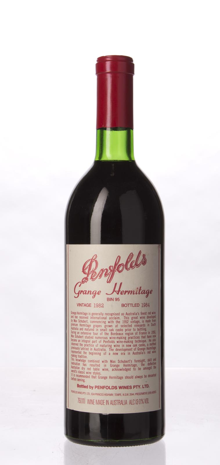 Penfolds Grange Shiraz 1982, 750mL (WA97, WS96) from The BPW - Merchants of rare and fine wines.
