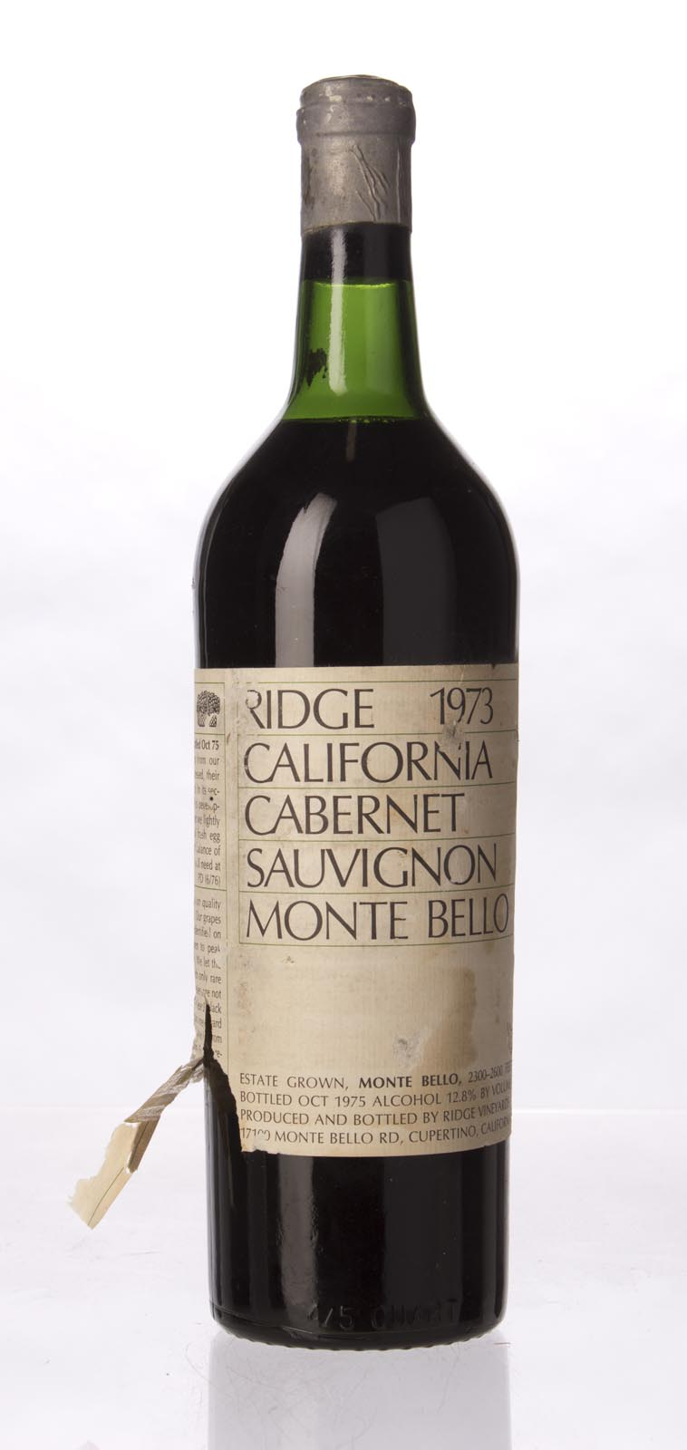 Ridge Monte Bello 1973, 750mL () from The BPW - Merchants of rare and fine wines.
