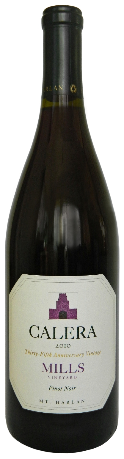 Calera Pinot Noir Mills Vineyard 2010, 750ml (WA96) from The BPW - Merchants of rare and fine wines.