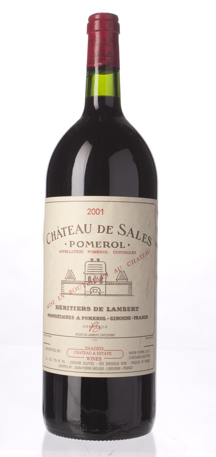 de Sales 2001, 1.5L () from The BPW - Merchants of rare and fine wines.