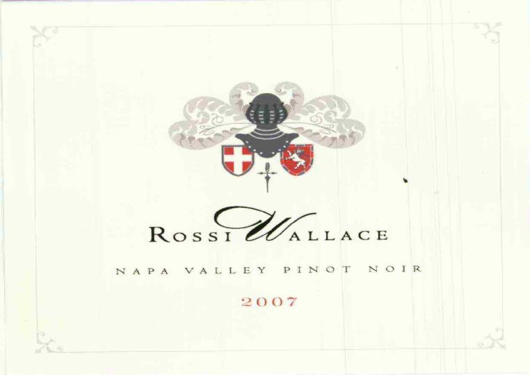 Rossi Wallace Pinot Noir Napa Valley 2012, 750ml () from The BPW - Merchants of rare and fine wines.