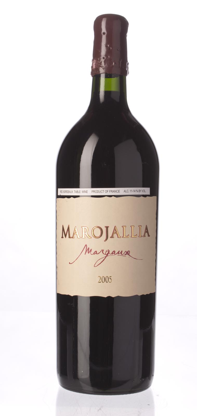 Marojallia 2005, 1.5L (WA95) from The BPW - Merchants of rare and fine wines.