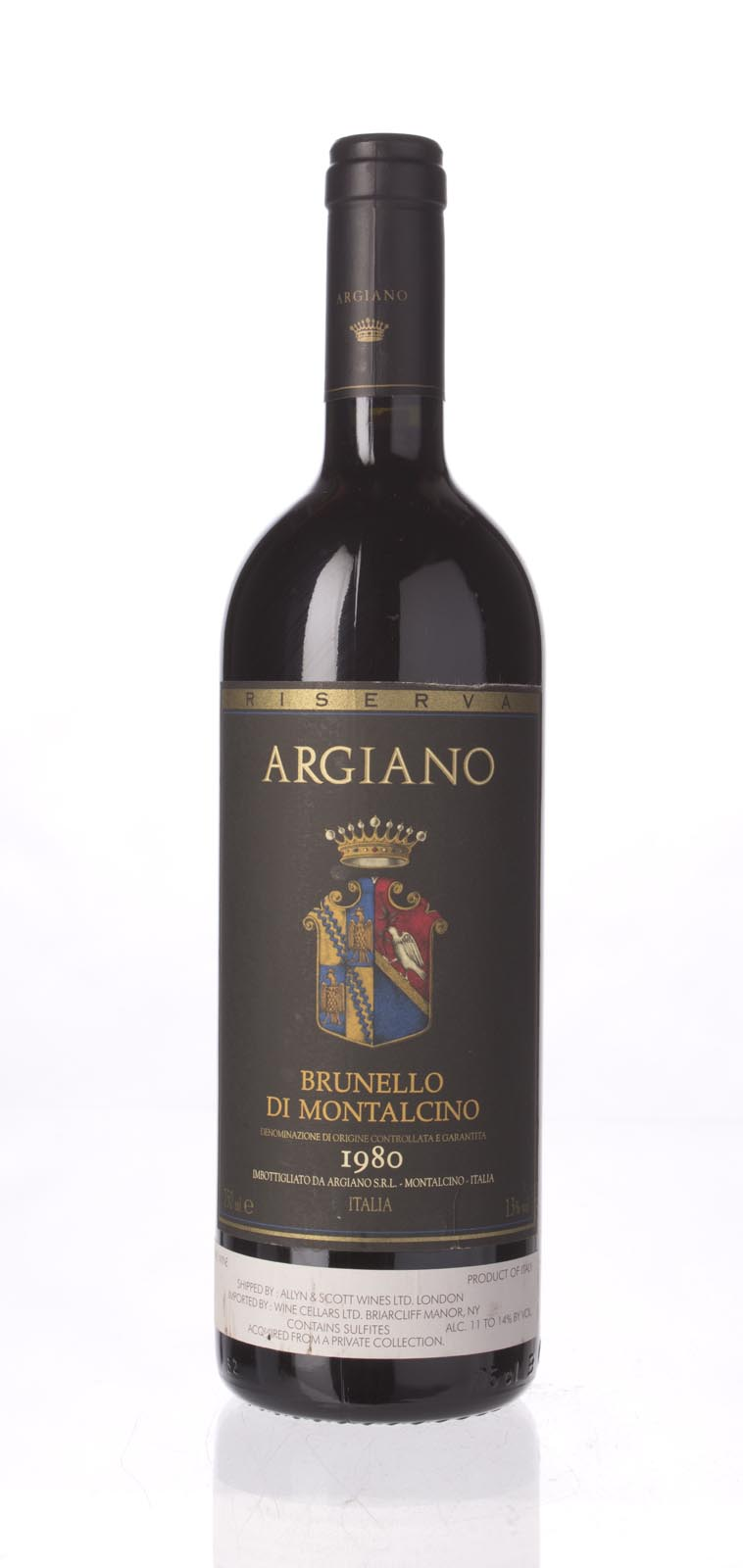 Argiano Brunello di Montalcino Riserva 1980, 750mL () from The BPW - Merchants of rare and fine wines.