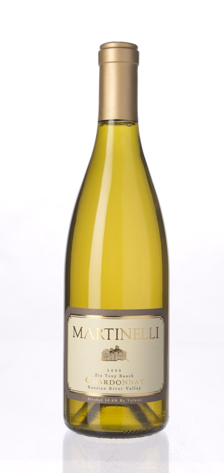 Martinelli Chardonnay Zio Tony Ranch 2008, 750mL (WA95, ST92, WS94) from The BPW - Merchants of rare and fine wines.