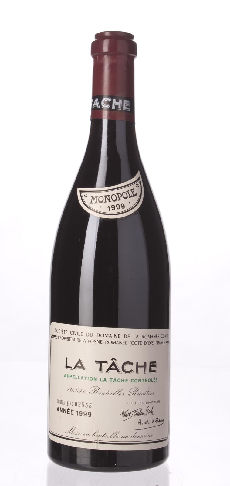 Domaine de La Romanee Conti la Tache 1999, 750mL (BH98, ST97) from The BPW - Merchants of rare and fine wines.
