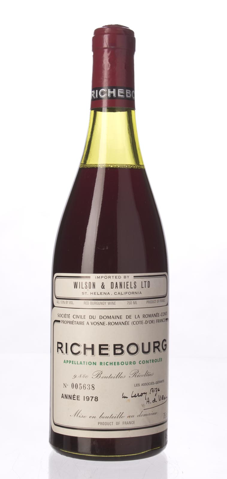 Domaine de La Romanee Conti Richebourg 1978, 750mL (BH93, WA94) from The BPW - Merchants of rare and fine wines.