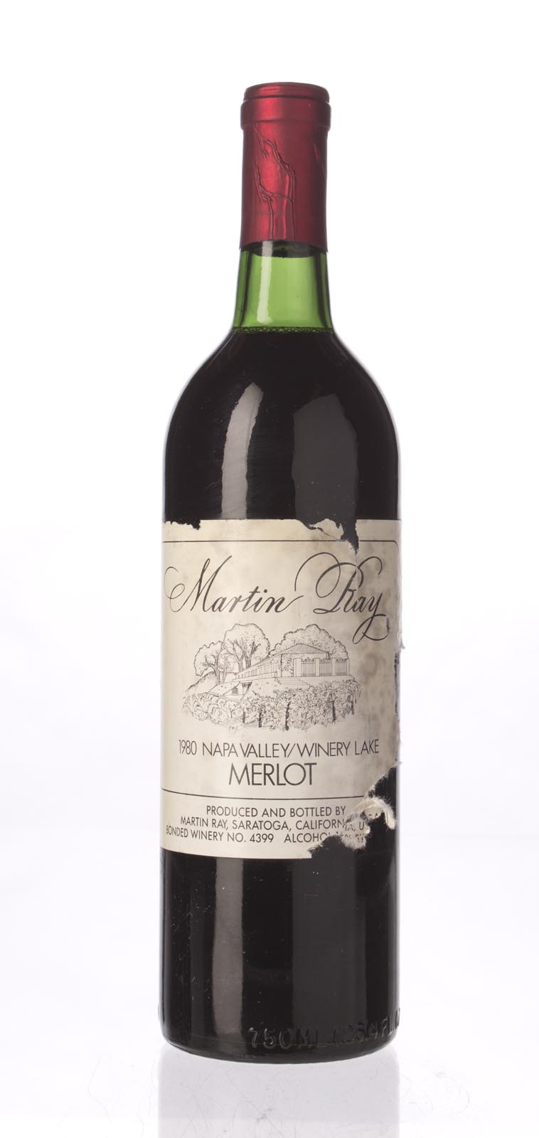 Martin Ray Winery Merlot Winery Lake 1980, 750mL () from The BPW - Merchants of rare and fine wines.