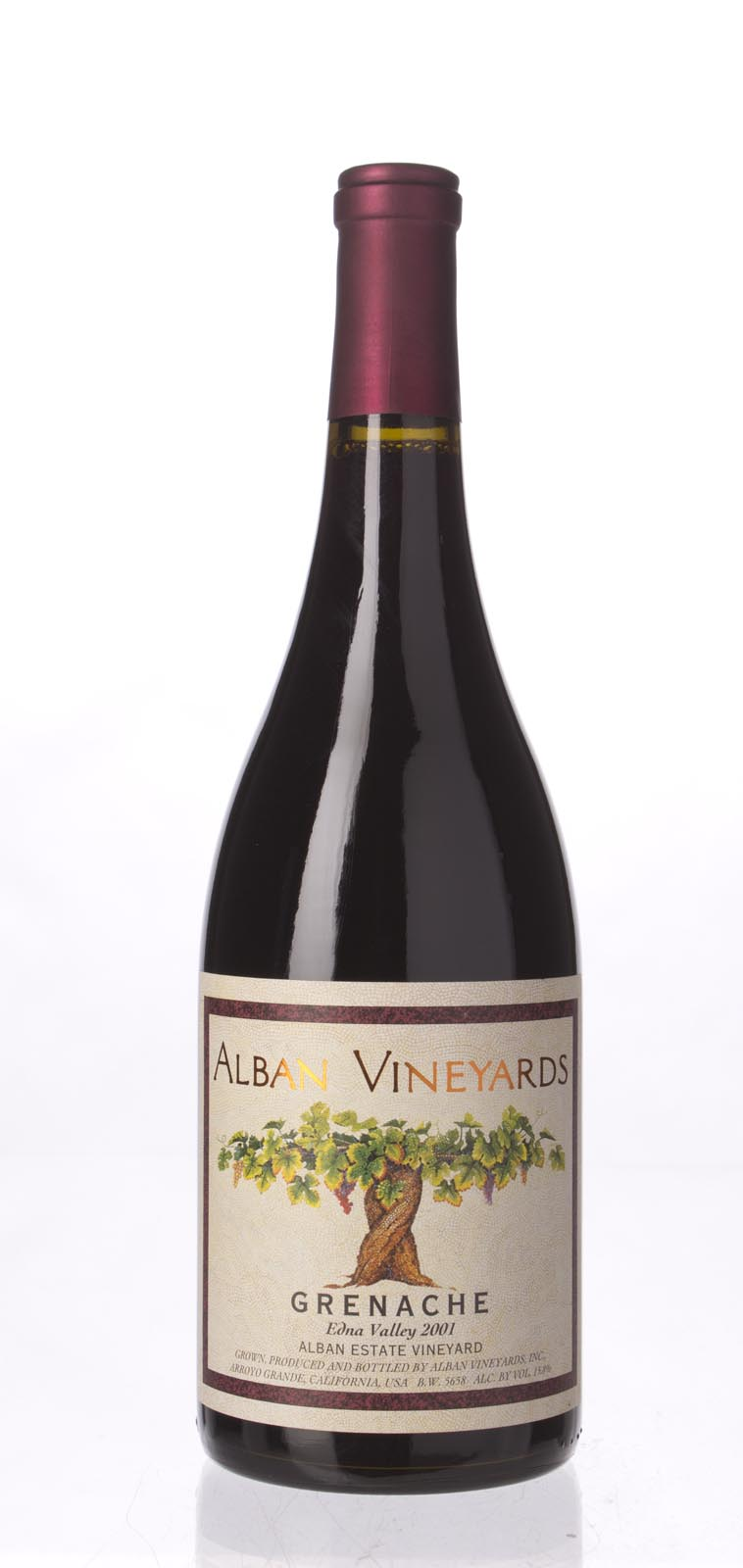 Alban Vineyards Grenache Alban Estate Vineyard 2001, 750mL (ST92) from The BPW - Merchants of rare and fine wines.