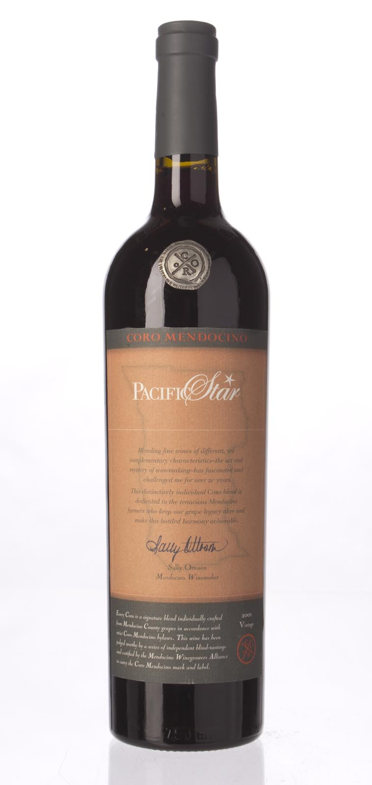 Pacific Star Winery Proprietary Red Coro 2001, 750mL () from The BPW - Merchants of rare and fine wines.