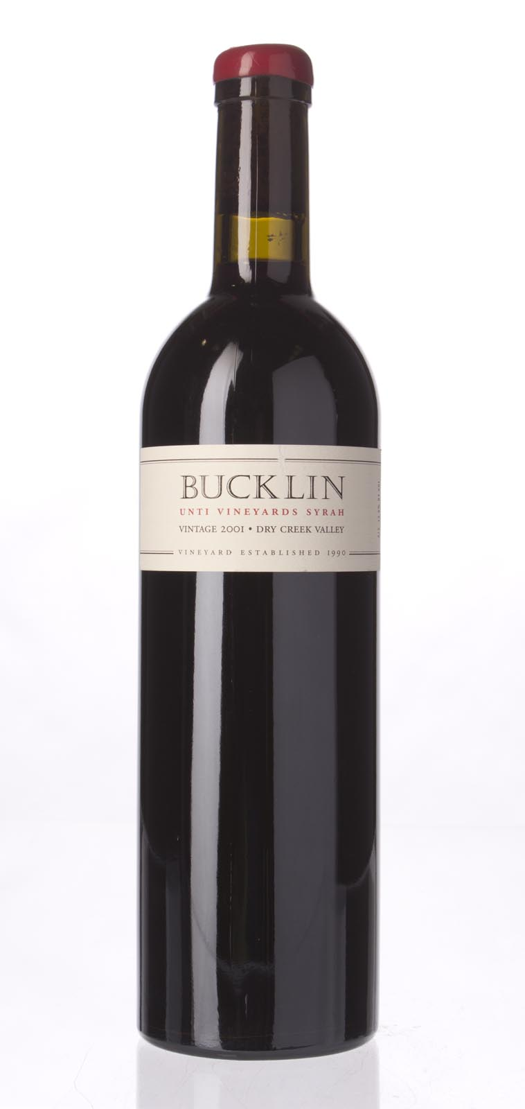 Bucklin Syrah Unti Vineyards 2001, 750mL () from The BPW - Merchants of rare and fine wines.