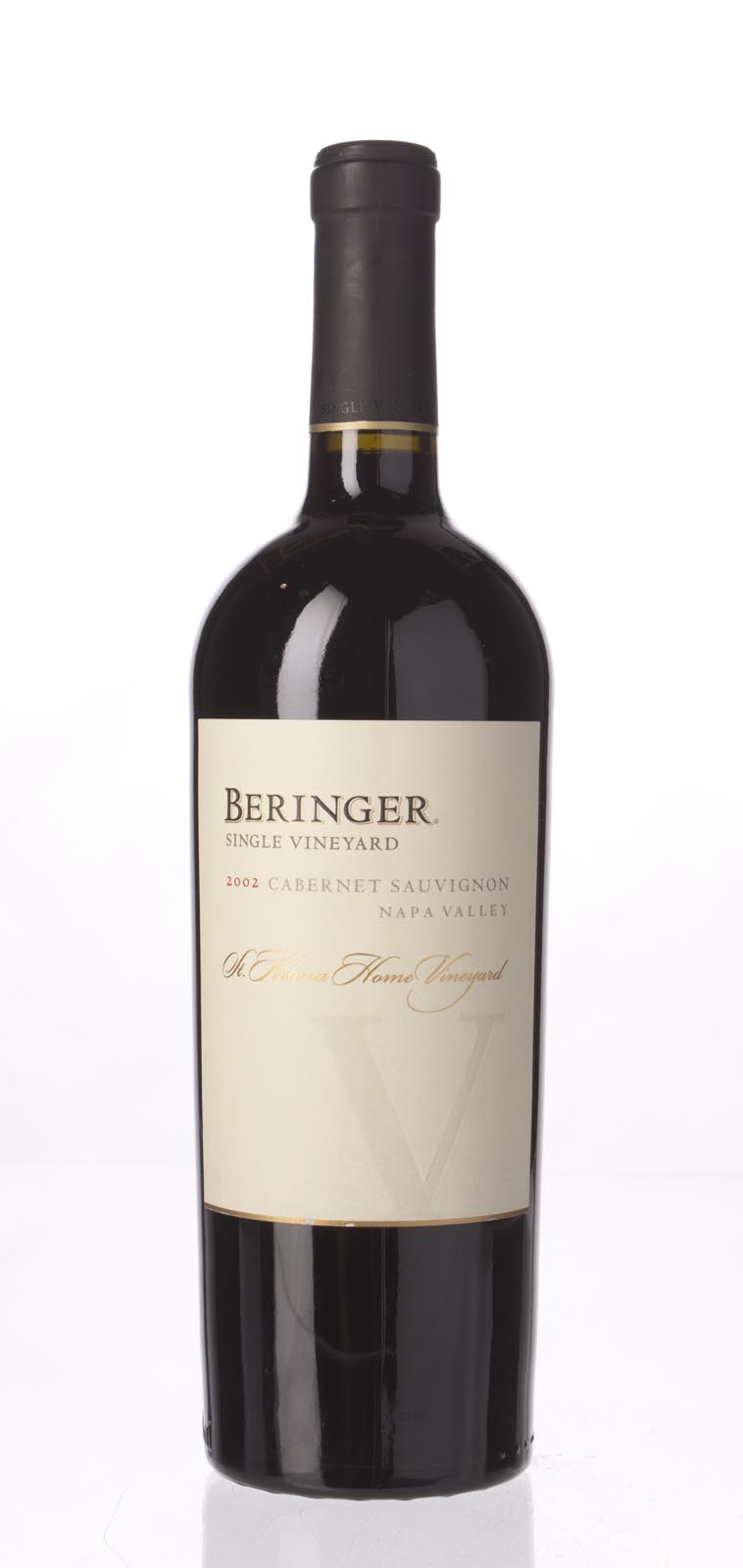 Beringer Cabernet Sauvignon St Helena Home Vineyard 2002, 750mL (WA93, ST91) from The BPW - Merchants of rare and fine wines.