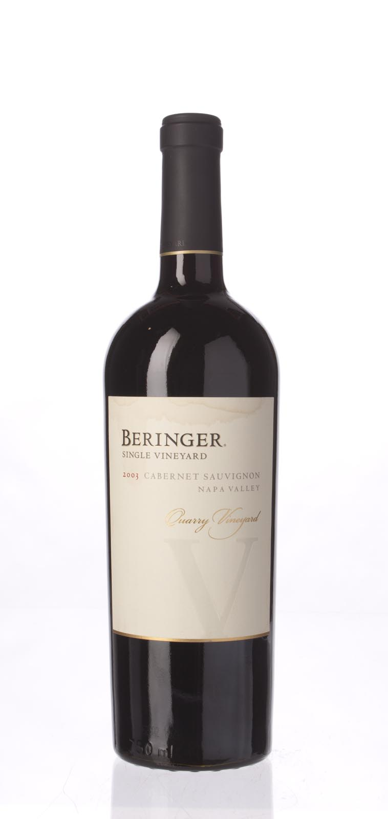 Beringer Cabernet Sauvignon Quarry Vineyard 2003, 750mL (WA91) from The BPW - Merchants of rare and fine wines.