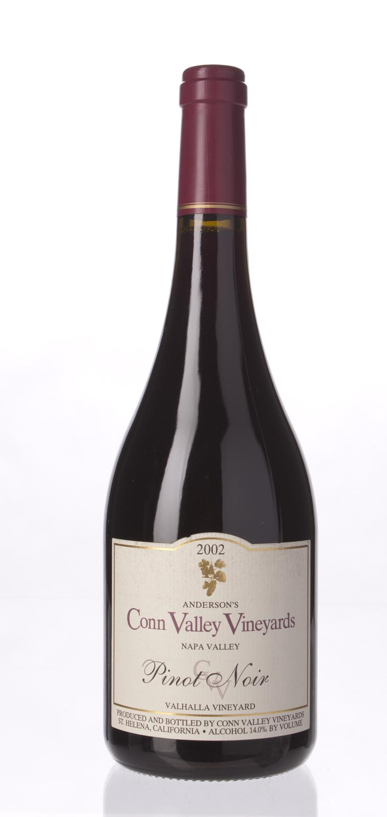 Anderson`s Conn Valley Pinot Noir Valhalla Vineyard 2002, 750mL (WA88) from The BPW - Merchants of rare and fine wines.