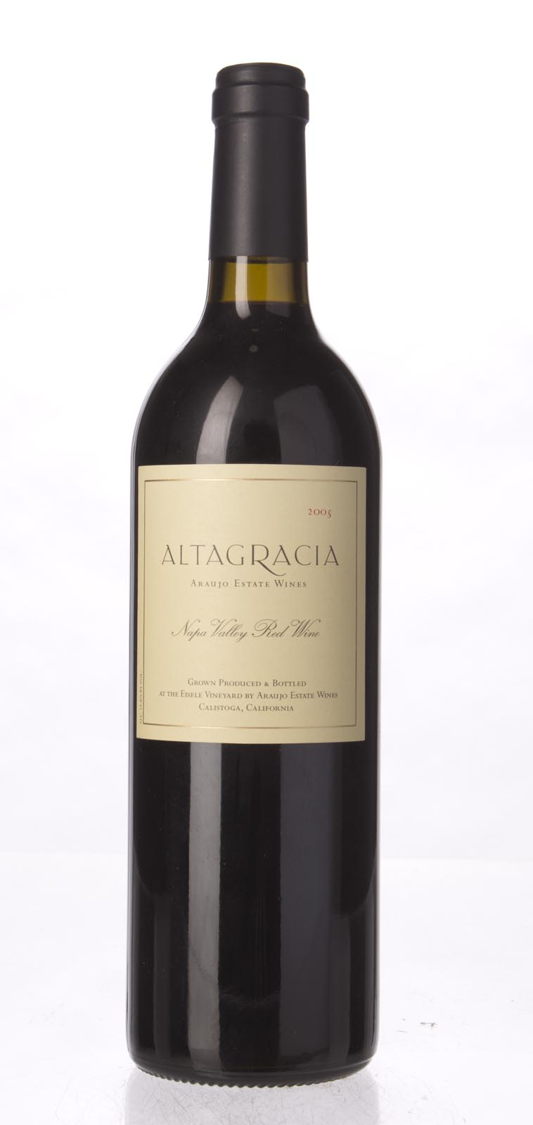 Araujo Estate Cabernet Sauvignon Altagracia 2005, 750mL (WA91, ST92) from The BPW - Merchants of rare and fine wines.