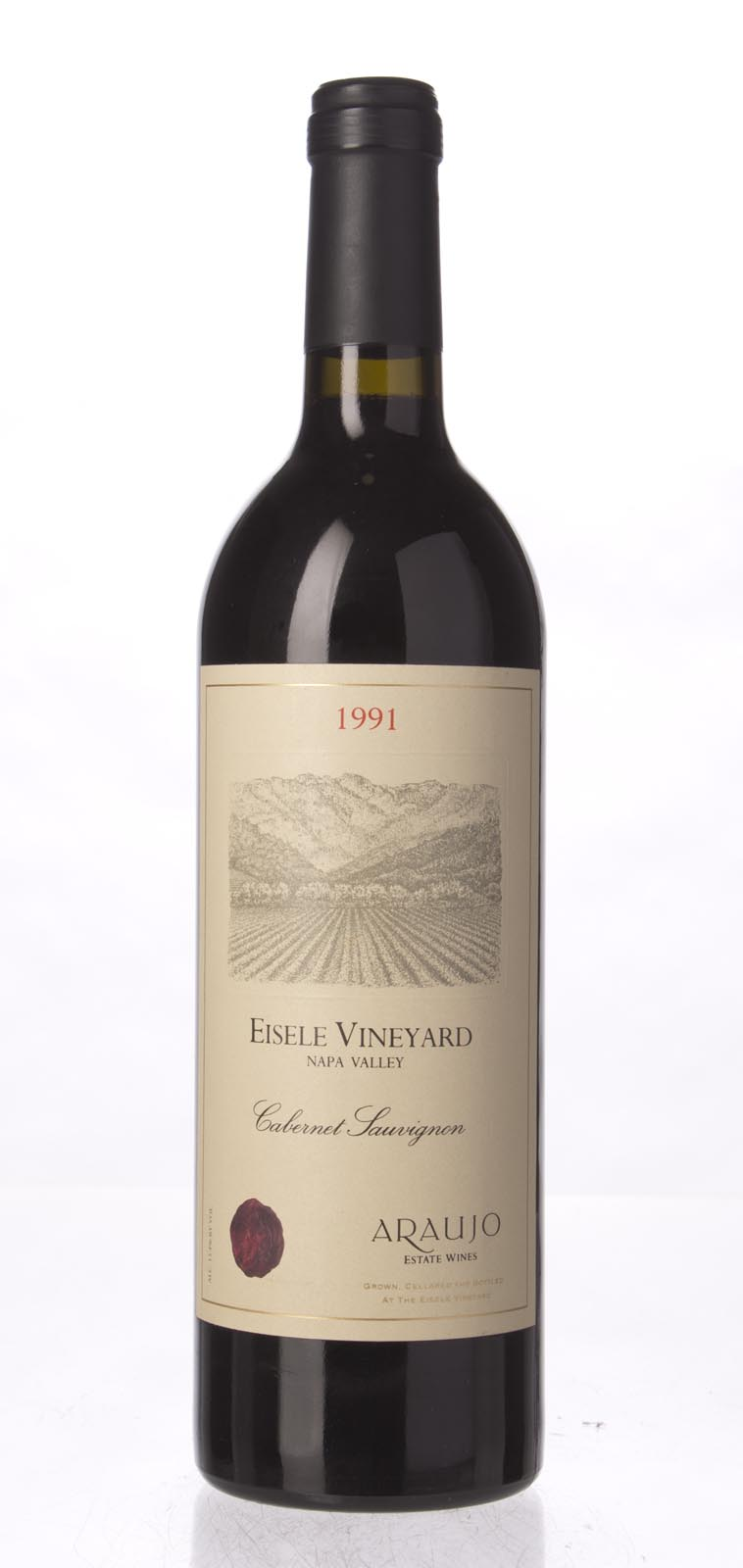Araujo Estate Cabernet Sauvignon Eisele Vineyard 1991, 750mL (WA95, WS95) from The BPW - Merchants of rare and fine wines.