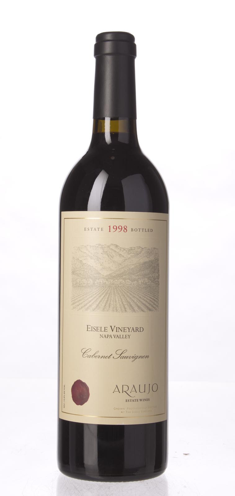 Araujo Estate Cabernet Sauvignon Eisele Vineyard 1998, 750mL (WA92) from The BPW - Merchants of rare and fine wines.