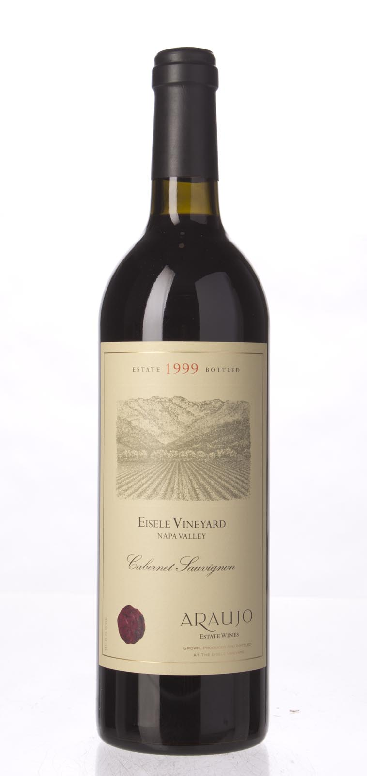 Araujo Estate Cabernet Sauvignon Eisele Vineyard 1999, 750mL (WA95, WS97) from The BPW - Merchants of rare and fine wines.