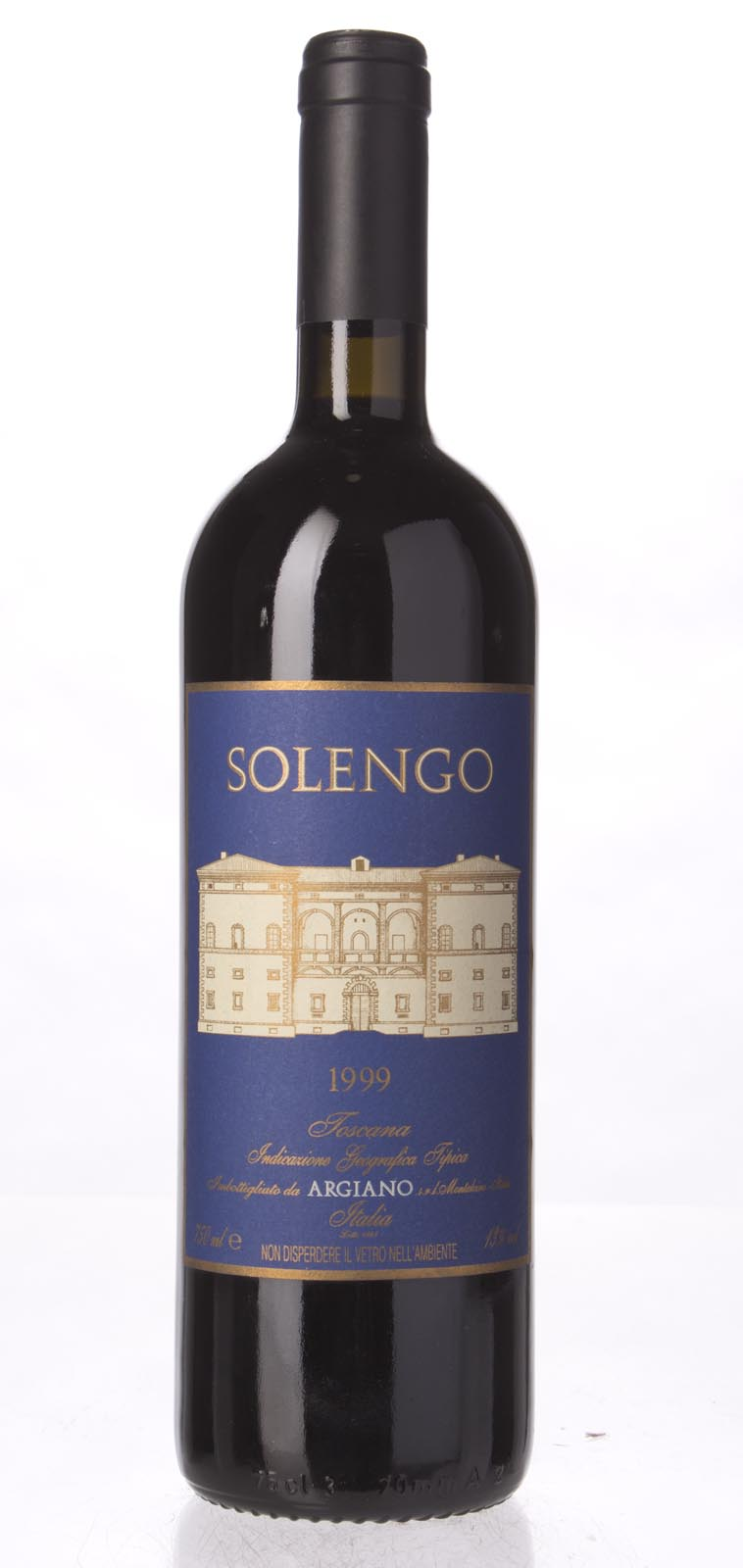 Argiano Solengo 1999, 750mL (WA94, WS94) from The BPW - Merchants of rare and fine wines.