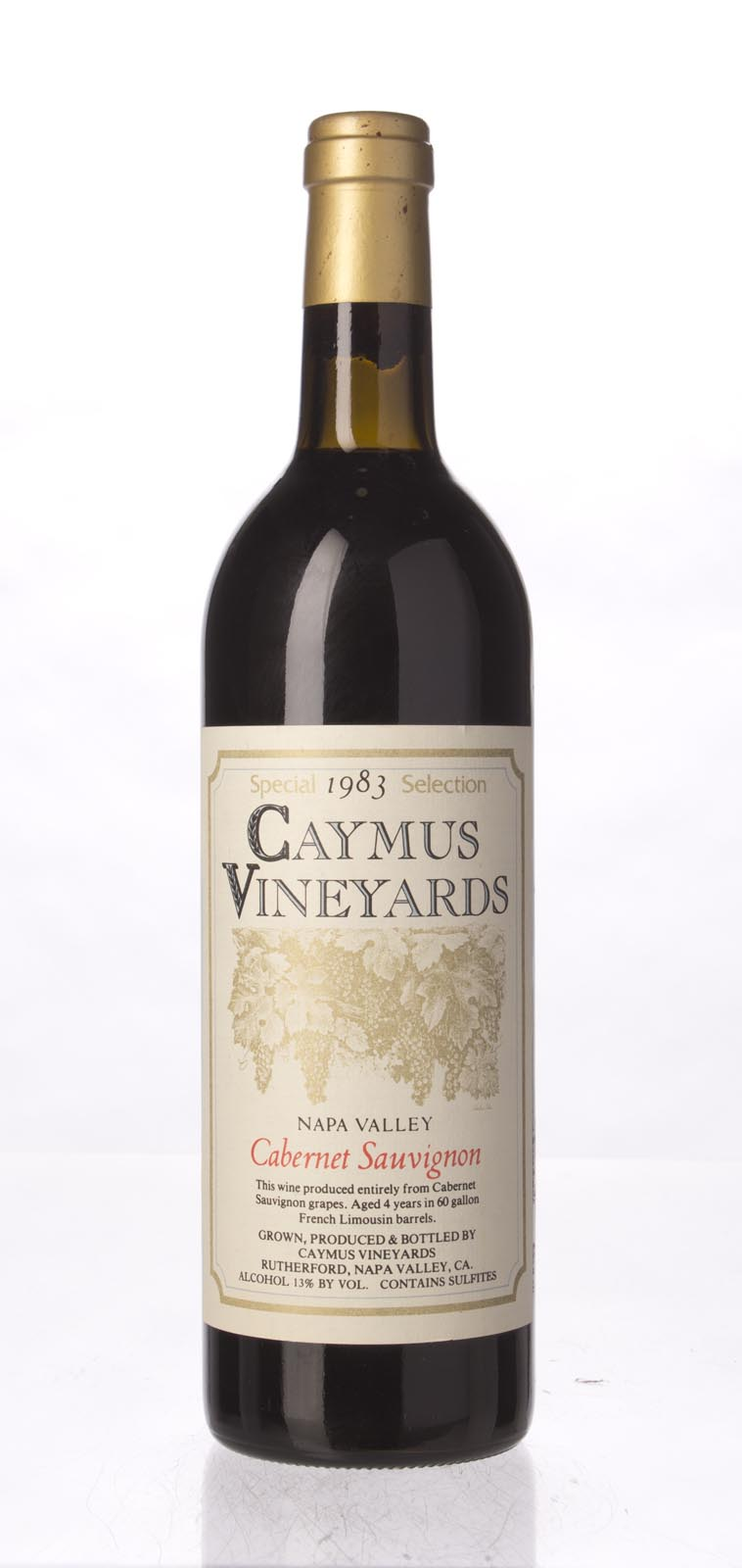 Caymus Cabernet Sauvignon Special Selection 1983, 750mL (WA89, WS90) from The BPW - Merchants of rare and fine wines.