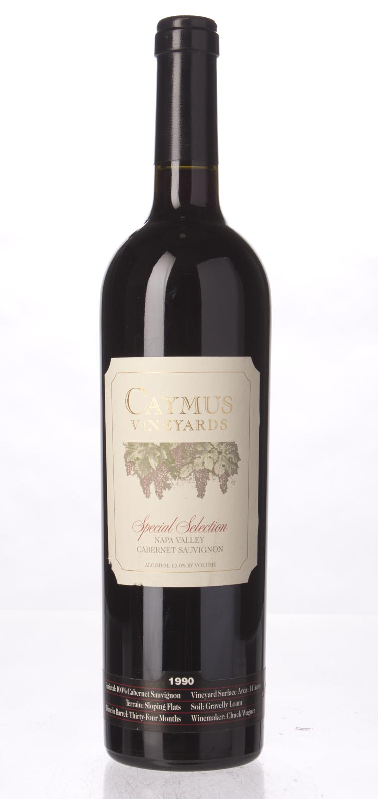 Caymus Cabernet Sauvignon Special Selection 1990, 750mL (WS98 -