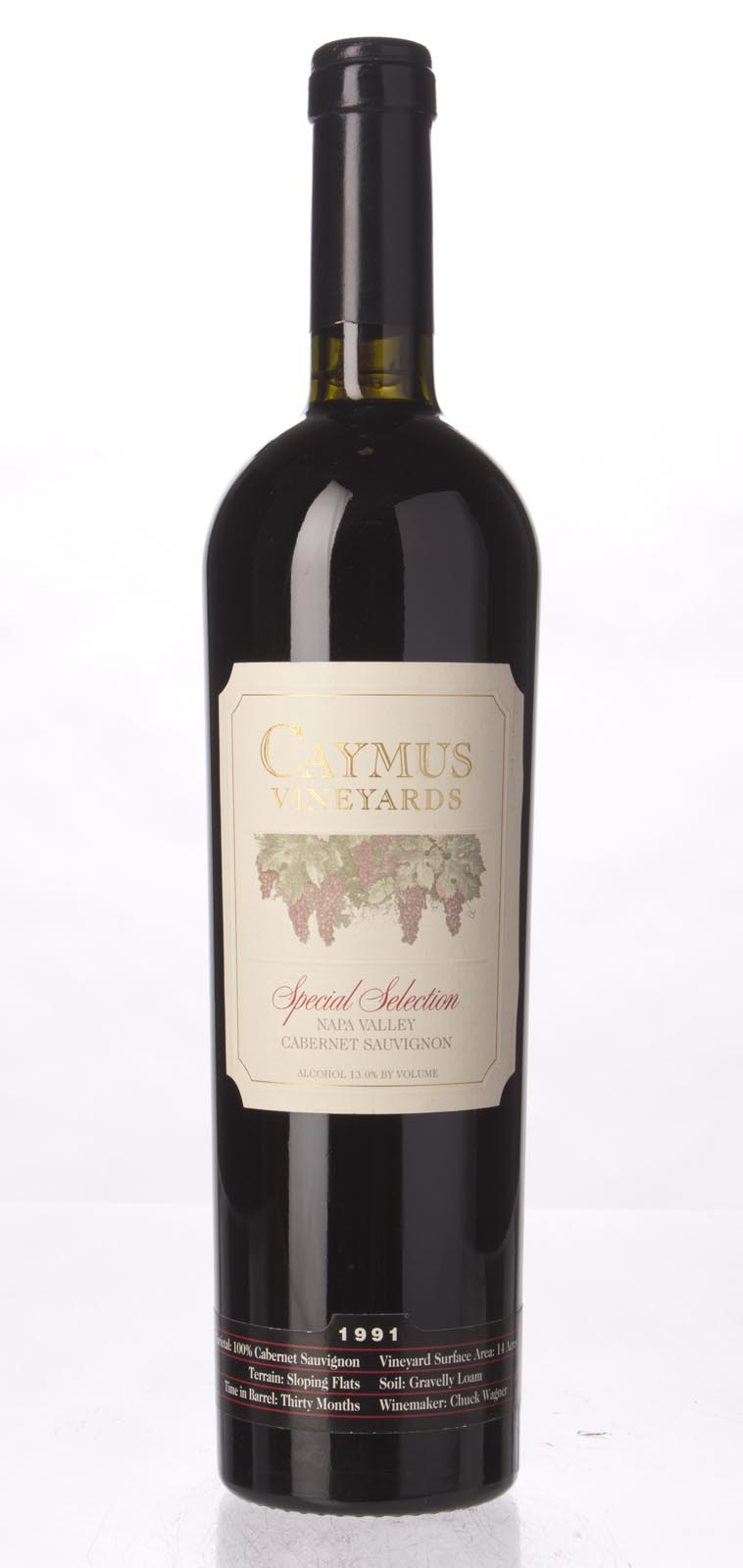Caymus Cabernet Sauvignon Special Selection 1991, 750mL (WS99) from The BPW - Merchants of rare and fine wines.