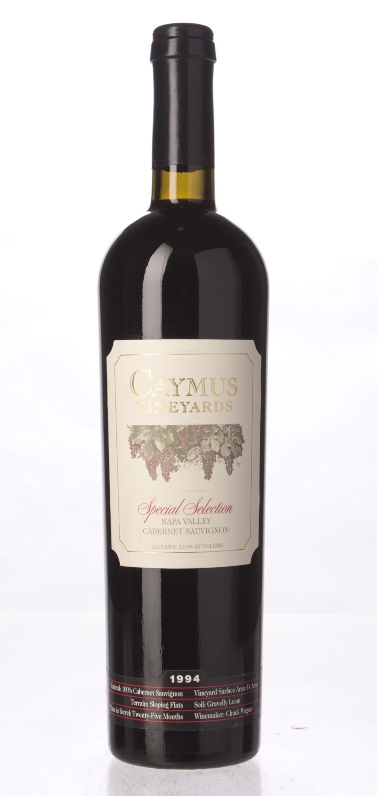 Caymus Cabernet Sauvignon Special Selection 1994, 750mL (WA95, WS95) from The BPW - Merchants of rare and fine wines.