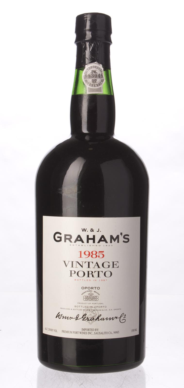 Graham Vintage Port 1985, 1.5L (WS96) from The BPW - Merchants of rare and fine wines.