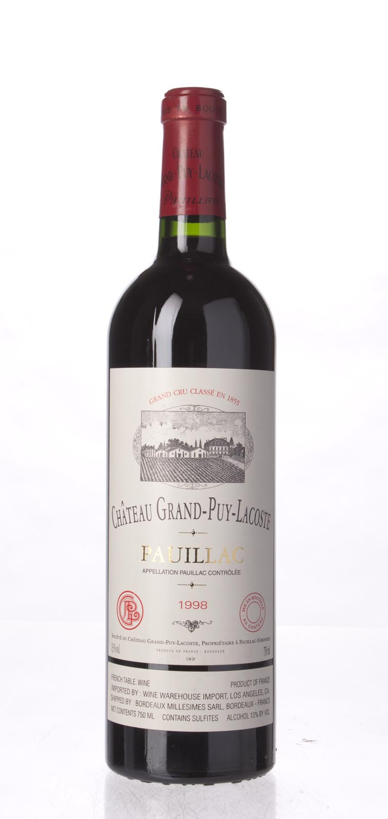 Grand Puy Lacoste 1998, 750mL (WA90) from The BPW - Merchants of rare and fine wines.