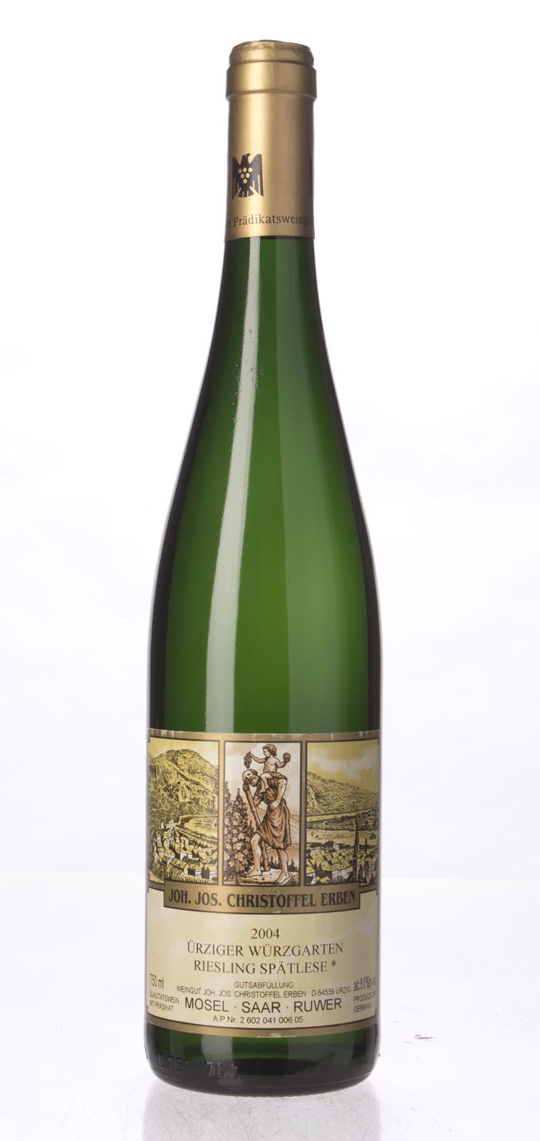 J. J. Christoffel Urziger Wurzgarten Riesling Spatlese* Gold Capsule 2004, 750mL () from The BPW - Merchants of rare and fine wines.