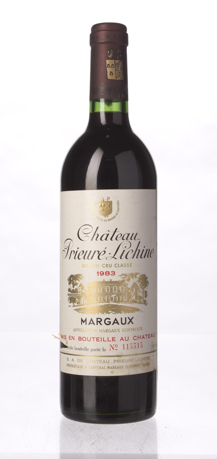 Prieure Lichine 1983, 750mL (WS96) from The BPW - Merchants of rare and fine wines.