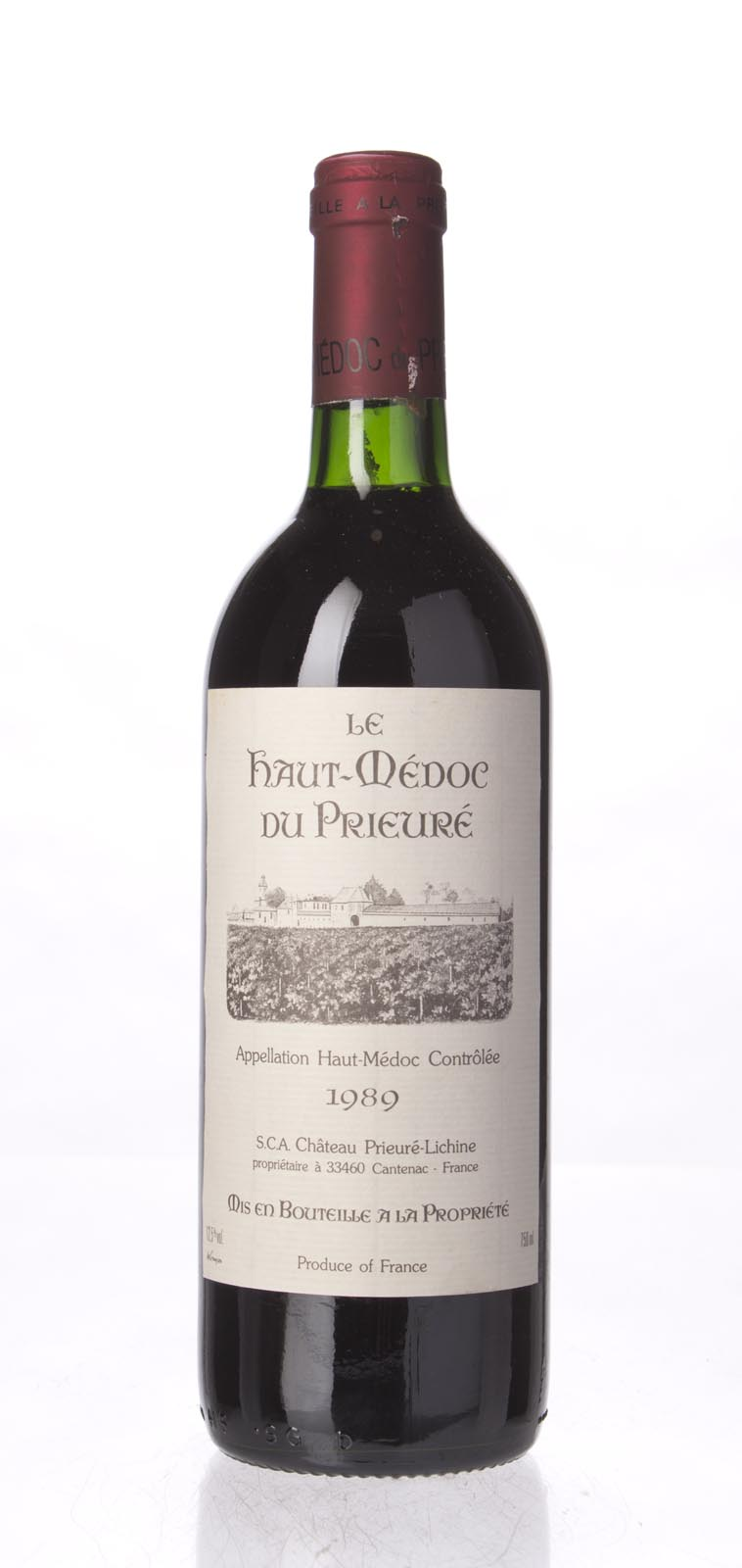 Prieure Lichine 1989, 750mL (WA88) from The BPW - Merchants of rare and fine wines.