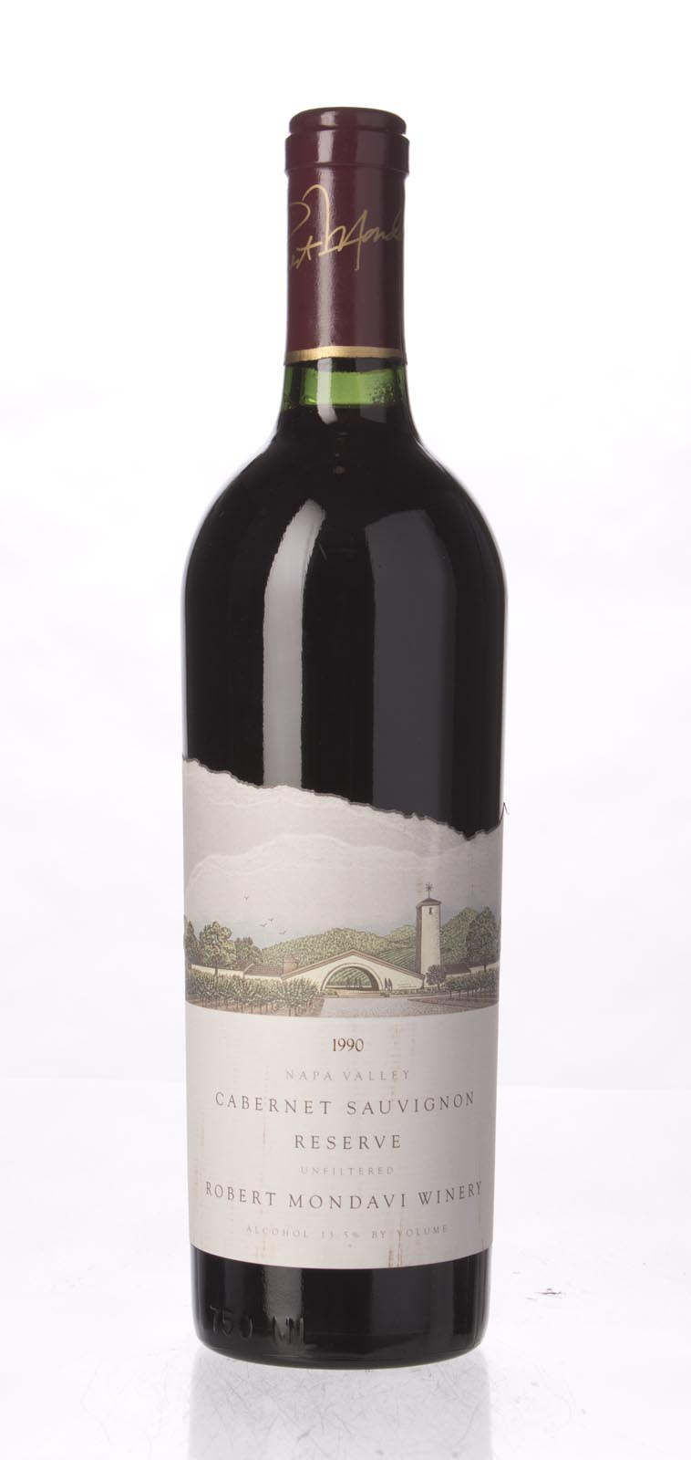 Robert Mondavi Cabernet Sauvignon Reserve 1990, 750mL (WA94) from The BPW - Merchants of rare and fine wines.