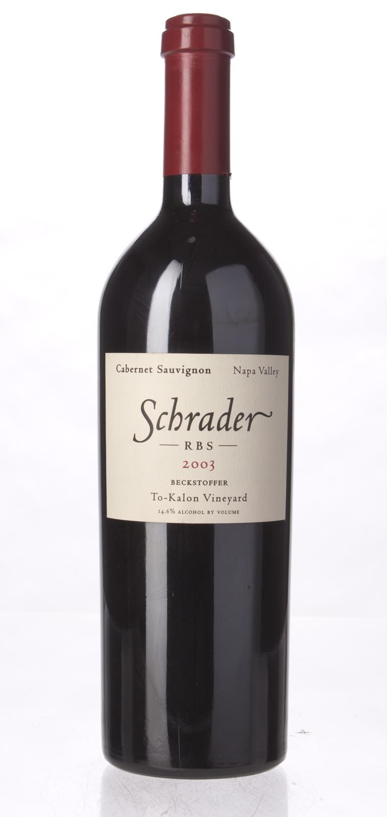 Schrader Cellars Cabernet Sauvignon Beckstoffer To Kalon Vineyard RBS 2003, 750mL (WA94) from The BPW - Merchants of rare and fine wines.
