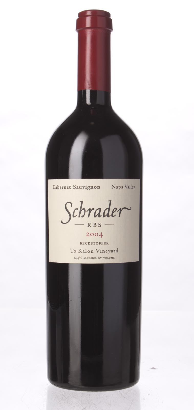 Schrader Cellars Cabernet Sauvignon Beckstoffer To Kalon Vineyard RBS 2004, 750mL (WS96) from The BPW - Merchants of rare and fine wines.
