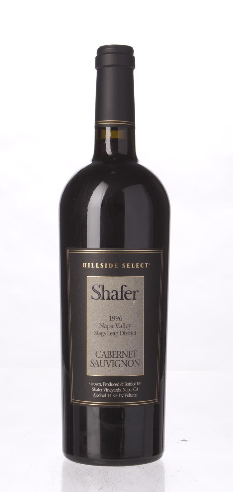 Shafer Cabernet Sauvignon Hillside Select 1996, 750mL (WA98) from The BPW - Merchants of rare and fine wines.