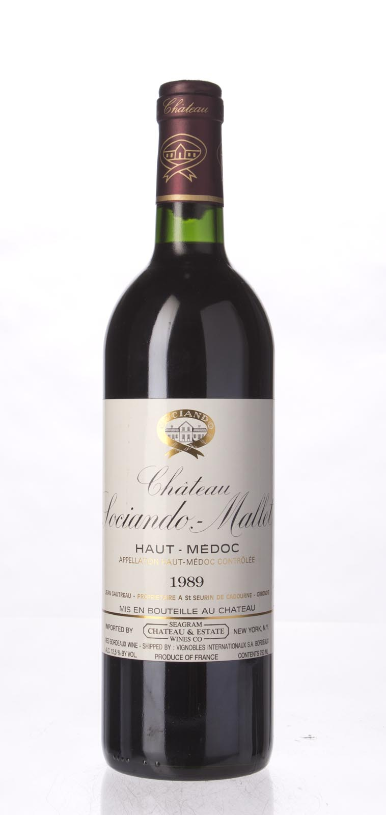 Sociando Mallet 1989, 750mL (WA90) from The BPW - Merchants of rare and fine wines.