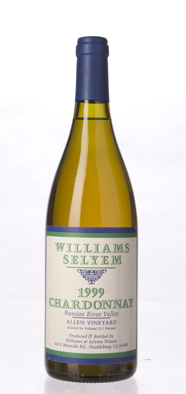 Williams Selyem Chardonnay Allen Vineyard 1999, 750mL (WS94) from The BPW - Merchants of rare and fine wines.