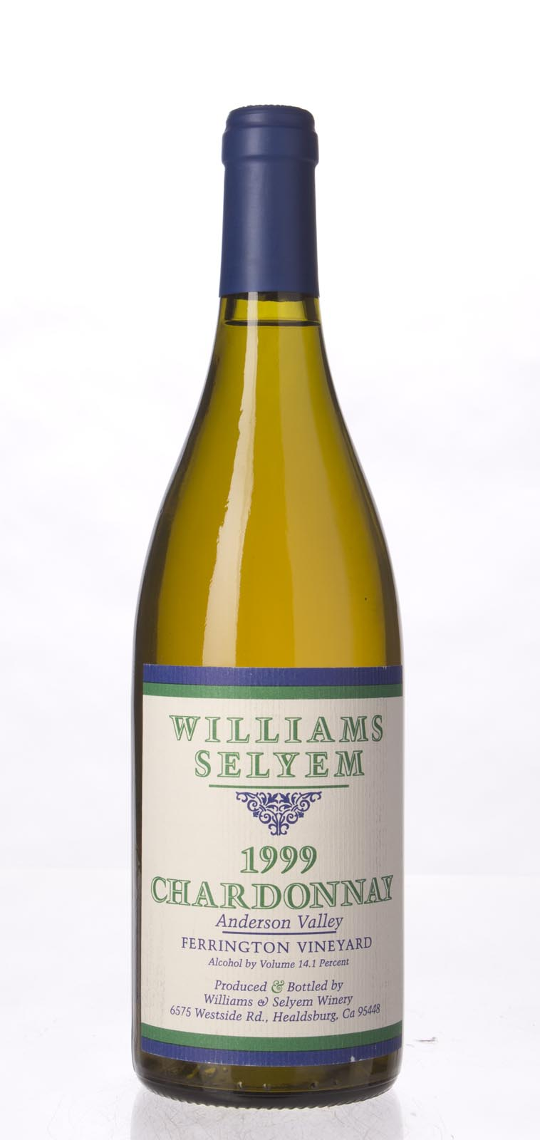 Williams Selyem Chardonnay Ferrington Vineyard 1999, 750mL (WS92) from The BPW - Merchants of rare and fine wines.