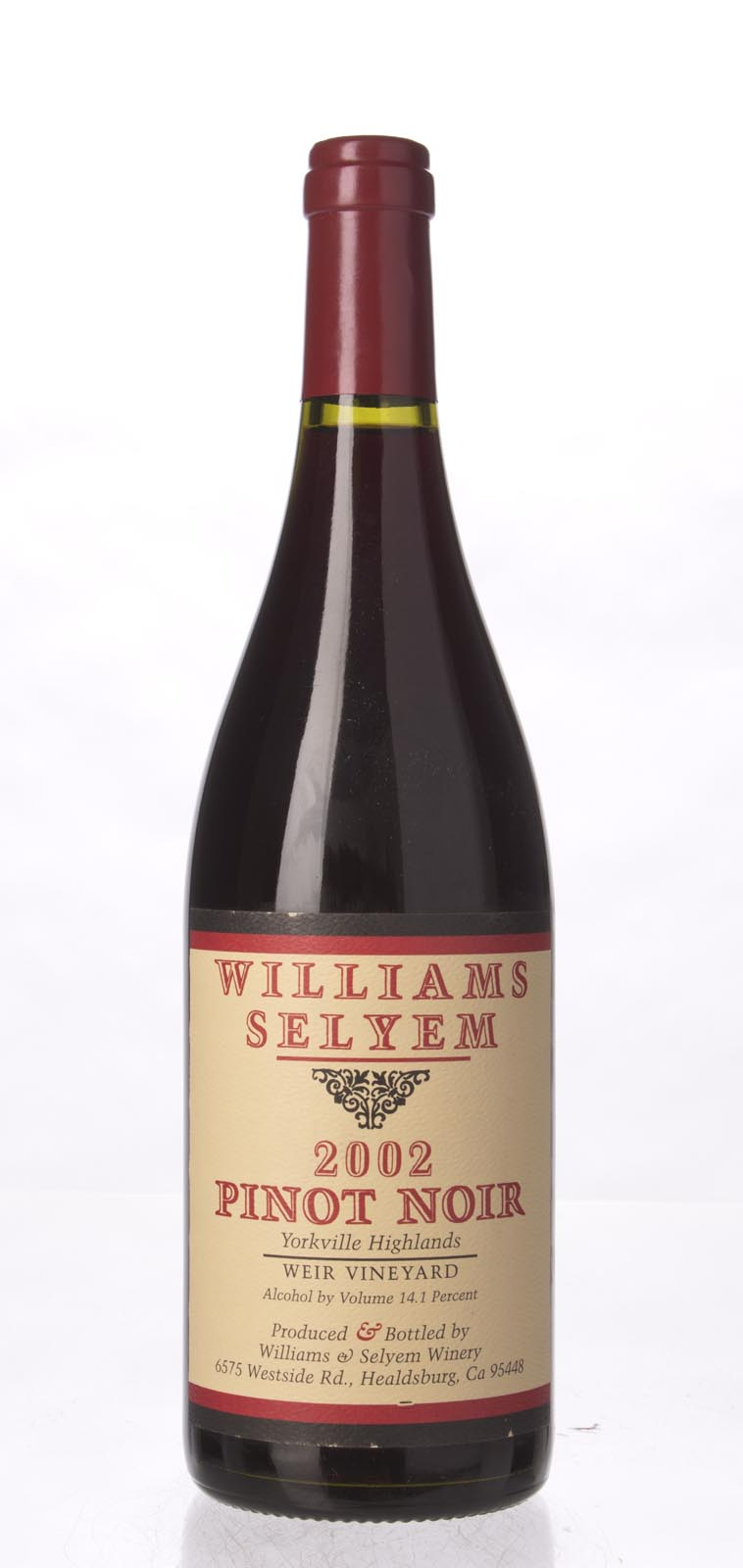Williams Selyem Pinot Noir Weir Vineyard 2002, 750ml () from The BPW - Merchants of rare and fine wines.