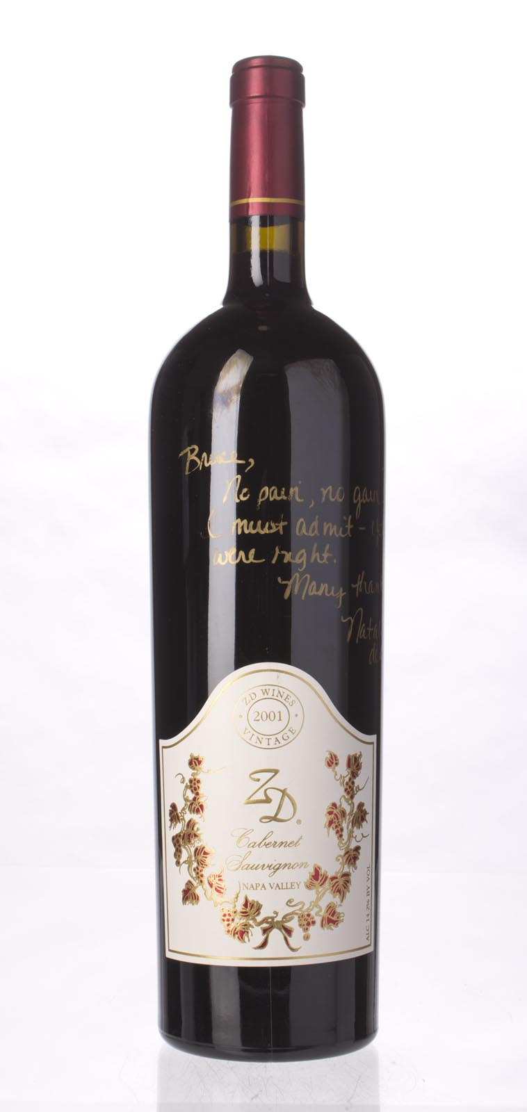 ZD Wines Cabernet Sauvignon Napa Valley 2001, 1.5L () from The BPW - Merchants of rare and fine wines.