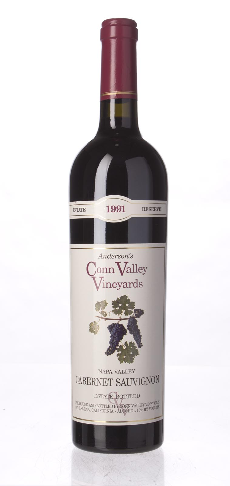 Anderson`s Conn Valley Cabernet Sauvignon Estate Reserve 1991, 750mL (WA93) from The BPW - Merchants of rare and fine wines.