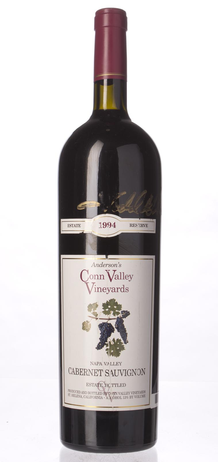 Anderson`s Conn Valley Cabernet Sauvignon Estate Reserve 1994, 1.5L (WS91) from The BPW - Merchants of rare and fine wines.