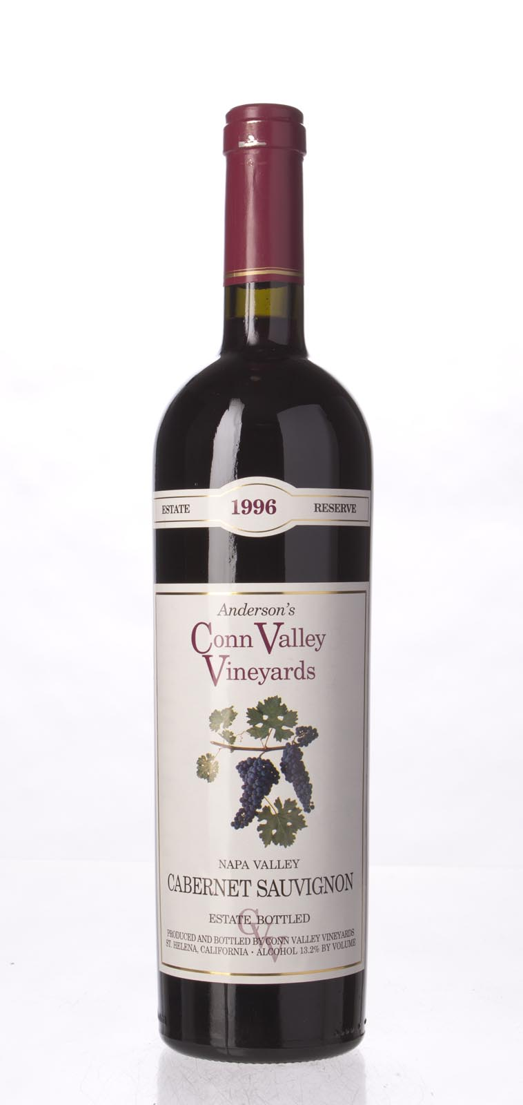 Anderson`s Conn Valley Cabernet Sauvignon Estate Reserve 1996, 750mL (WA90) from The BPW - Merchants of rare and fine wines.