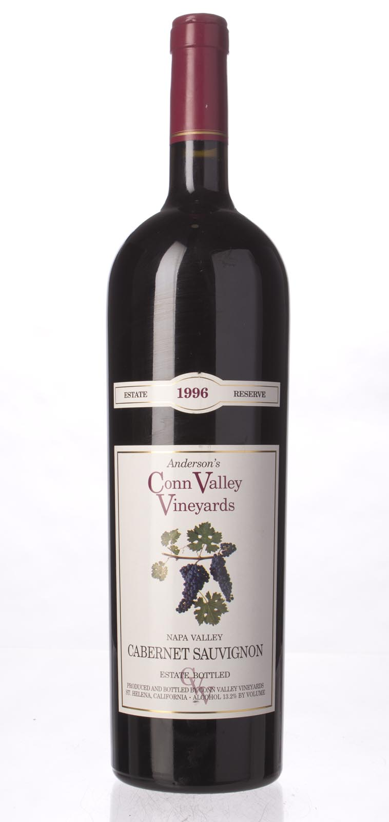 Anderson`s Conn Valley Cabernet Sauvignon Estate Reserve 1996, 1.5L (WA90) from The BPW - Merchants of rare and fine wines.