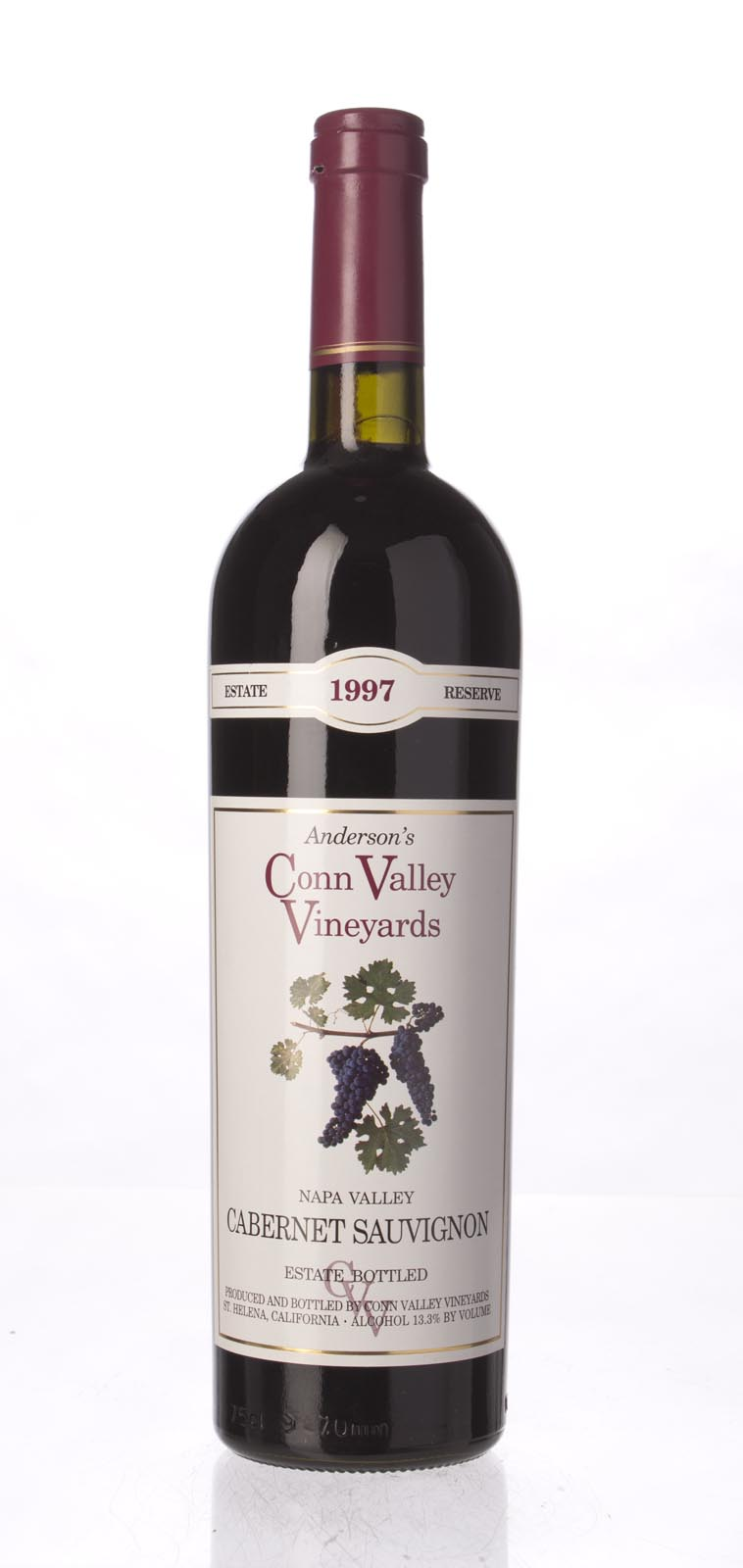 Anderson`s Conn Valley Cabernet Sauvignon Estate Reserve 1997, 750mL (WA91, ST92) from The BPW - Merchants of rare and fine wines.