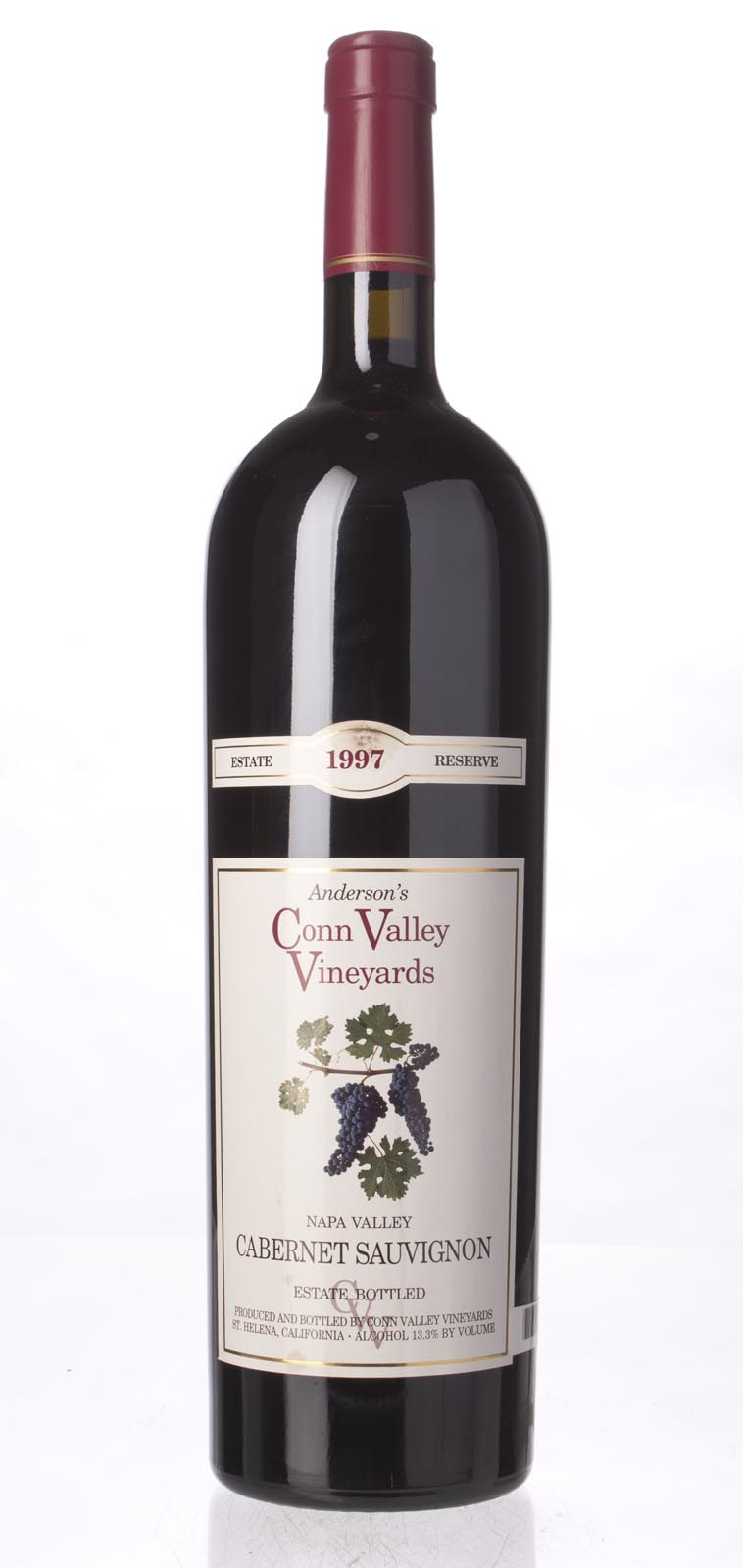 Anderson`s Conn Valley Cabernet Sauvignon Estate Reserve 1997, 1.5L (WA91, ST92) from The BPW - Merchants of rare and fine wines.