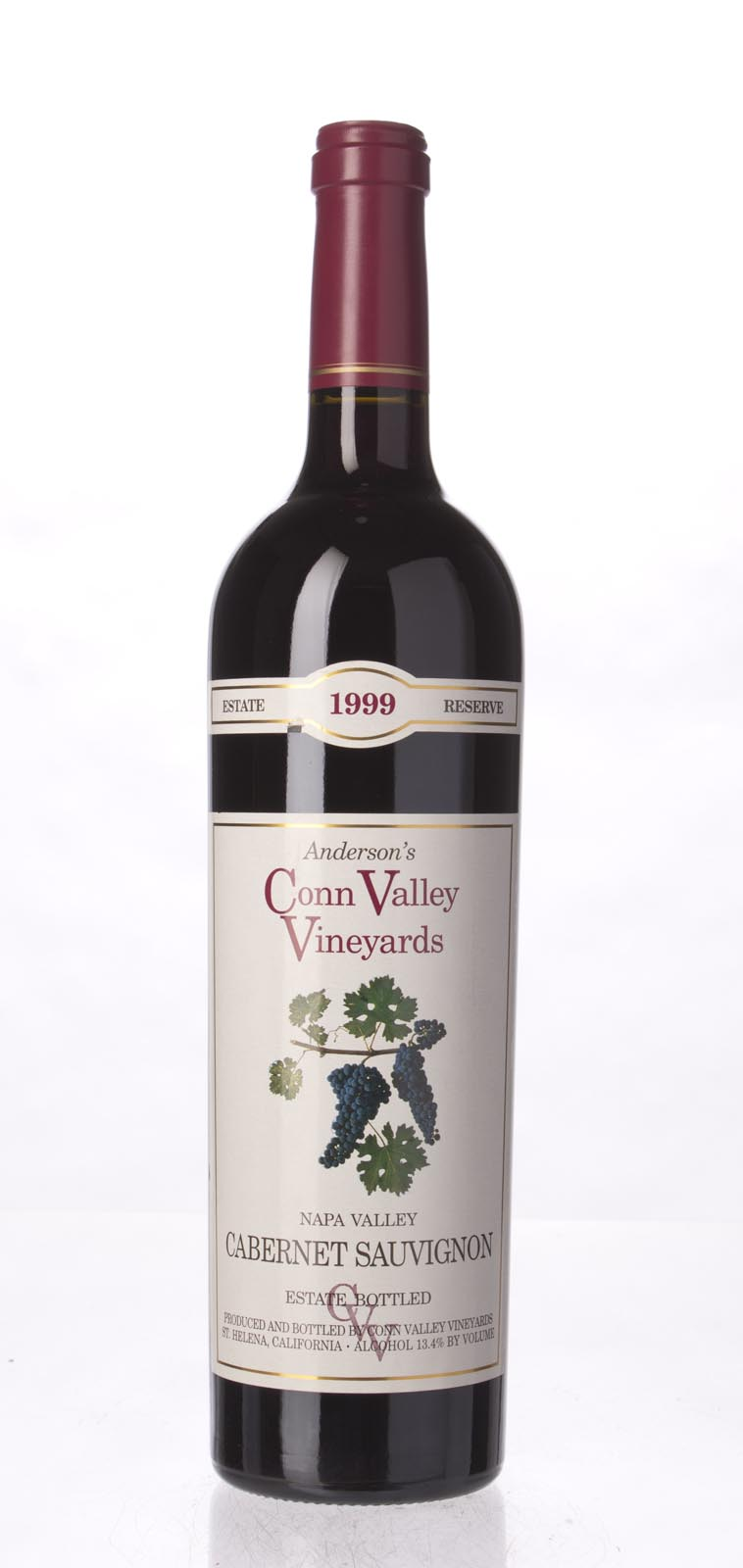 Anderson`s Conn Valley Cabernet Sauvignon Estate Reserve 1999, 750mL (WA90) from The BPW - Merchants of rare and fine wines.