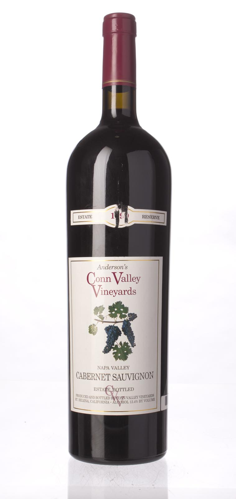Anderson`s Conn Valley Cabernet Sauvignon Estate Reserve 1999, 1.5L (WA90) from The BPW - Merchants of rare and fine wines.