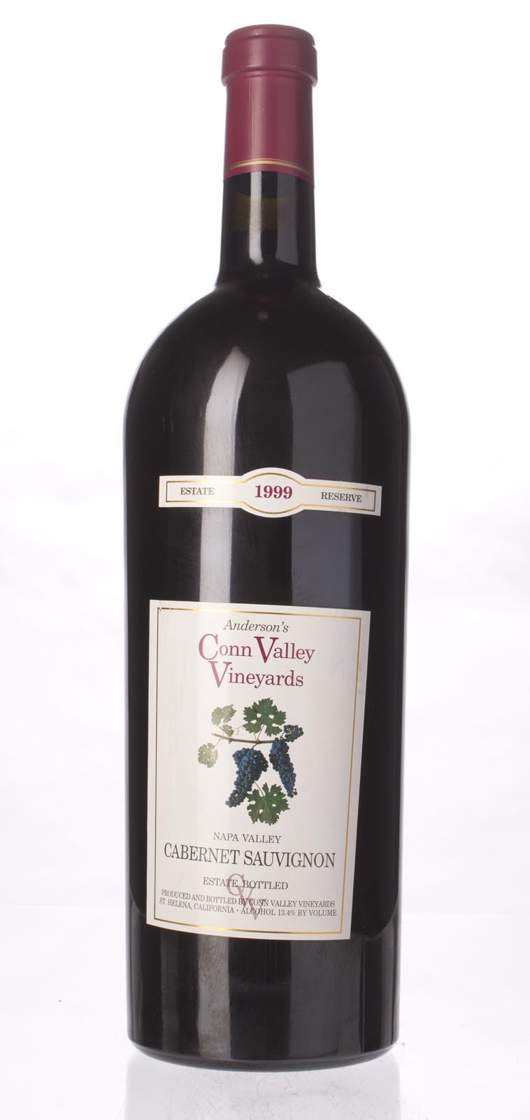 Anderson`s Conn Valley Cabernet Sauvignon Estate Reserve 1999, 3L (WA90) from The BPW - Merchants of rare and fine wines.